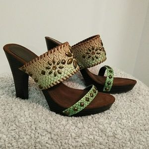 Amanda Smith Shoes - Amanda Smith, 7m, leather heels.
